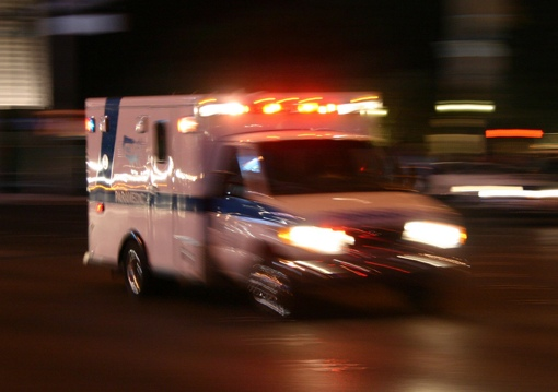 Ambulance responding to an emergency