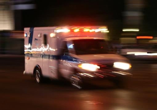 Ambulance responding to an emergency