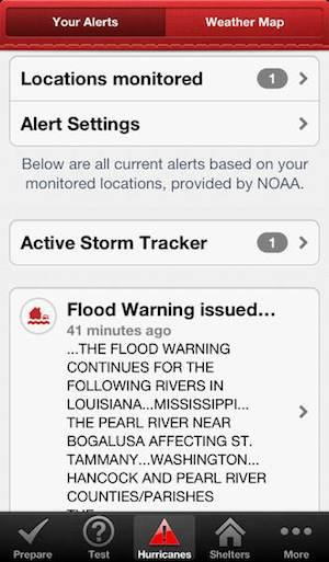 American Red Cross Hurricane app