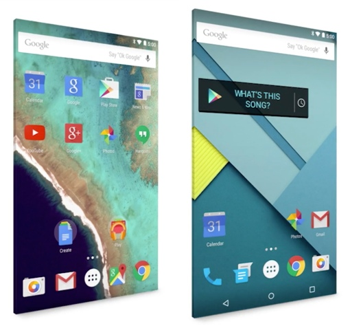 Android 5.0 Lollipop screens