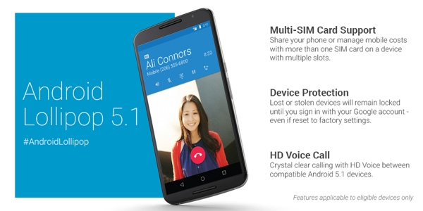 Android Lollipop 5.1 announce