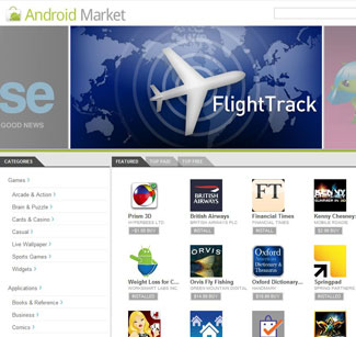 Android Market Web Store