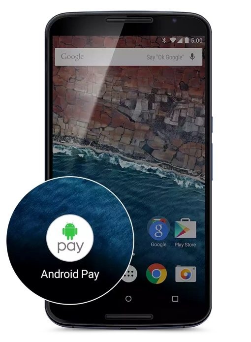 Android Pay on a smartphone