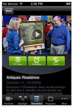 PBS iphone app Antiques Roadshow