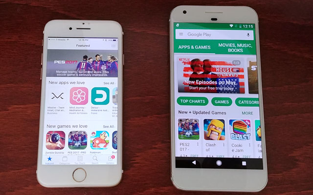 Apps: App Store vs. Google Play