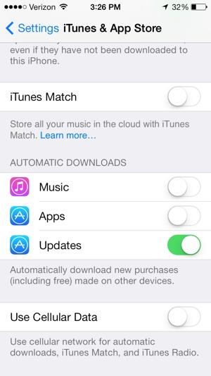 ITunes & App Store Settings
