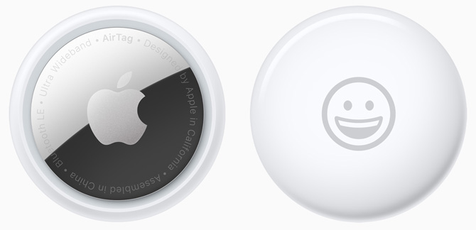 Apple AirTag back and front