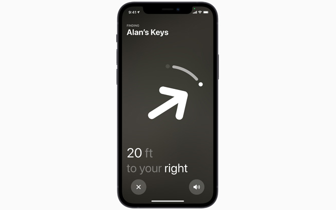 Apple AirTags Precision Finding feature