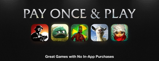 Apple App Store 'Pay Once & Play'