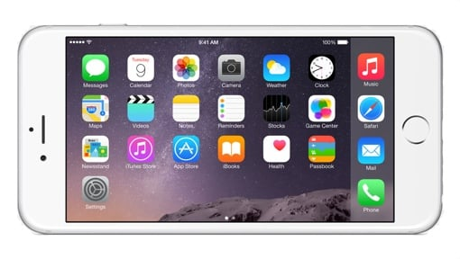Apple iPhone 6 Plus in Landscape Mode