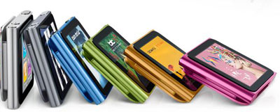 Apple iPod nano (gen 6) colors