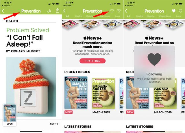 Apple News+ favorite magazine