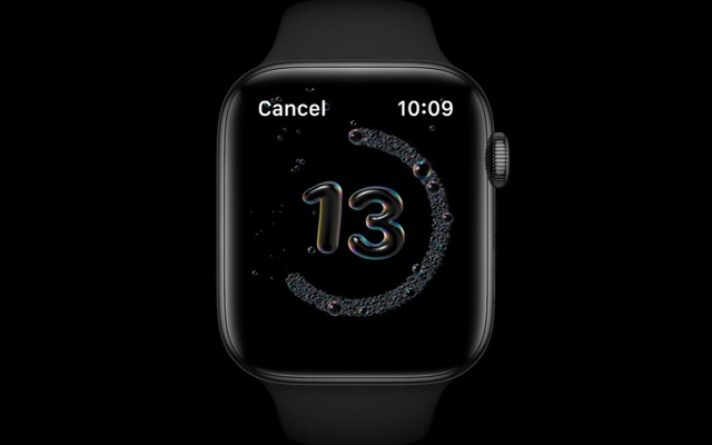 Hand washing countdown on Apple WatchOS 7