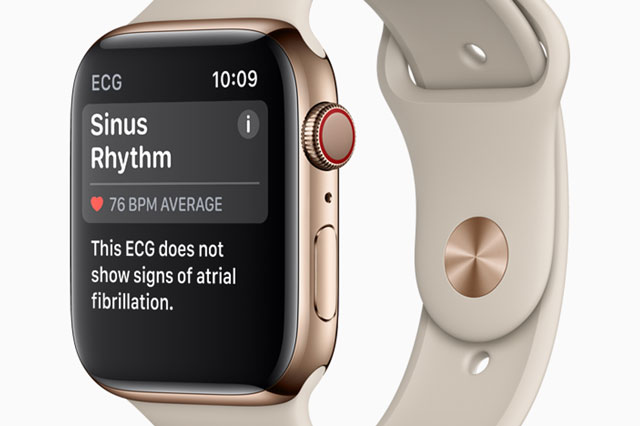 Apple Watch Series 4 heart monitoring