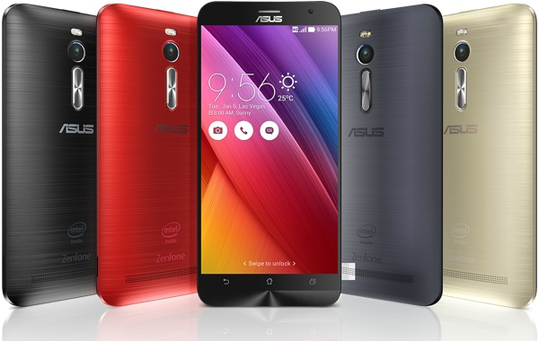 ASUS ZenFone 2 in different colors