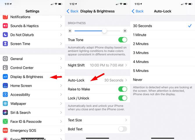 iOS 14: Auto Lock screen