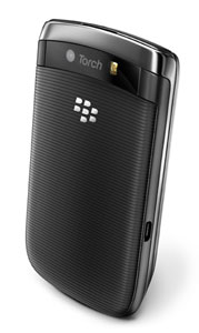 BlackBerry Torch 9800 back