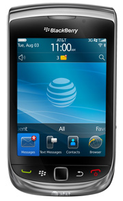 BlackBerry Torch navigation