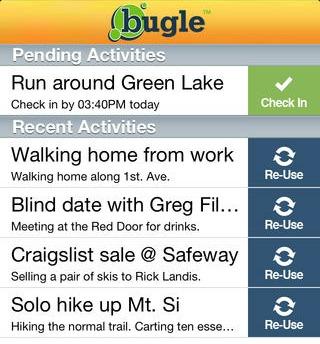 Bugle safety app
