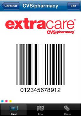 CardStar CVS loyalty card
