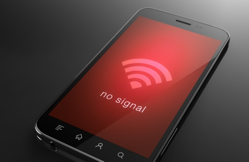 Cell phone with signal blocked