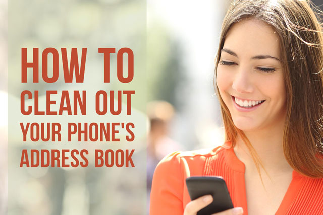 How to clean up your phone's address book