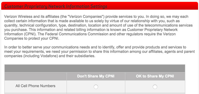 Verizon Supercookies Opt-out