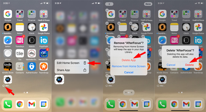 How to delete an iPhone app on your Home Screen if there is a cloud icon next to it