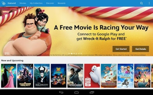 Disney Movies Anywhere app Android screenshot