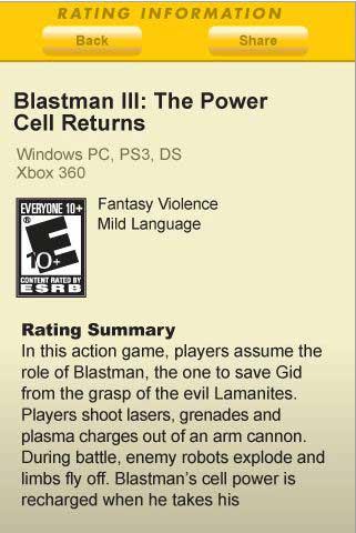 Blastman III rating