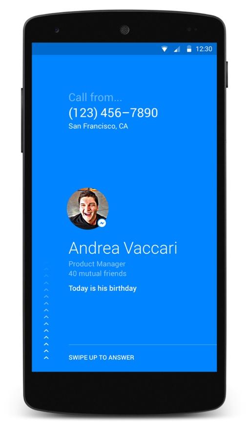 Facebook's Hello app (caller ID)