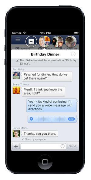 Facebook Home iPhone