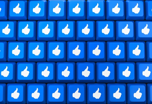 Keyboard with Facebook Like buttons