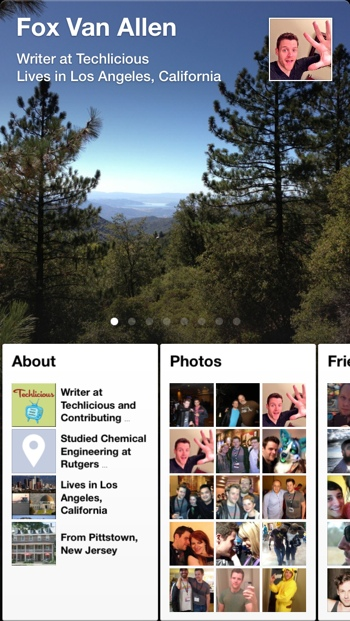 Facebook Paper Timeline view