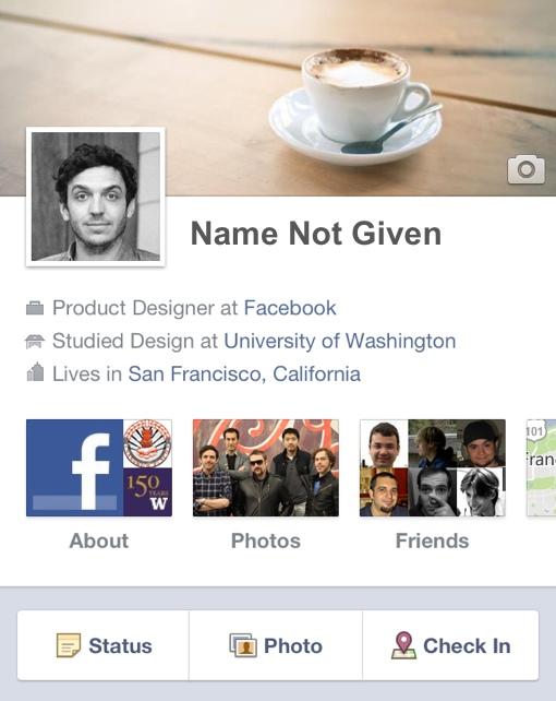 Anonymous Facebook profile