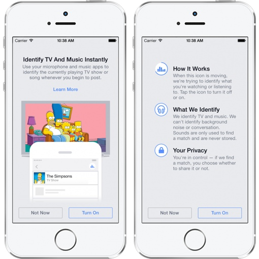 Facebook's new TV/music identification feature