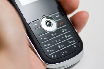 Feature phone in hand