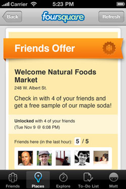 Foursquare friend special