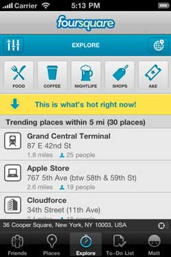 Foursquare recommendations