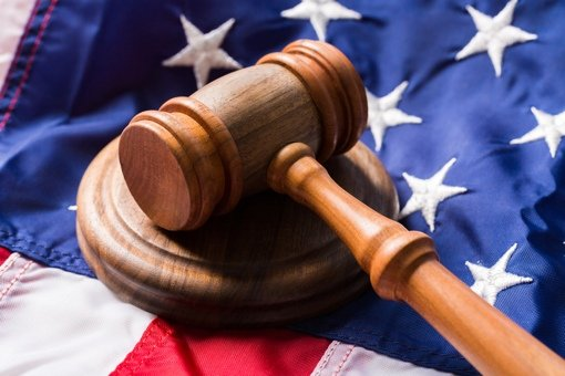 Gavel on American Flag