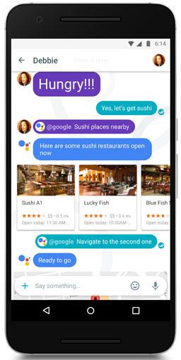 Google Assistant running of Pixel phone