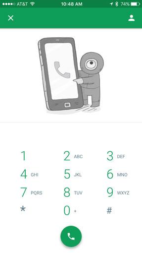 Google Hangouts dialer