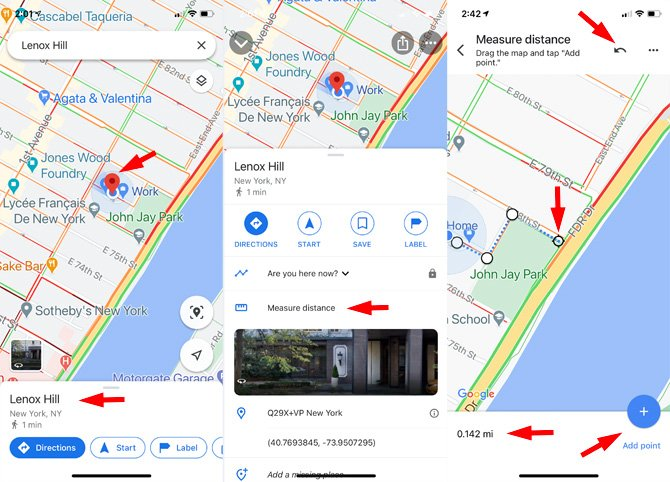 How to measure distance on Google Maps using your phone