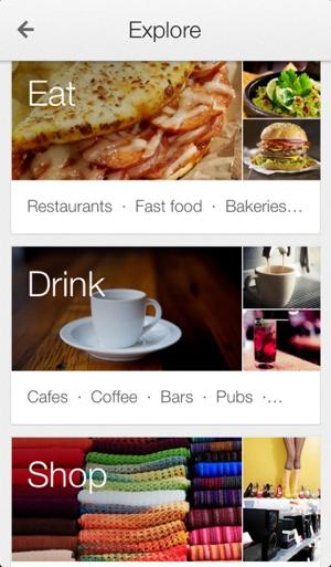 Google Maps' Explore tab