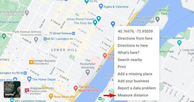 How to measure distance on Google Maps using your computer
