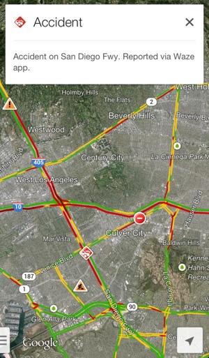 Google Maps Waze alert