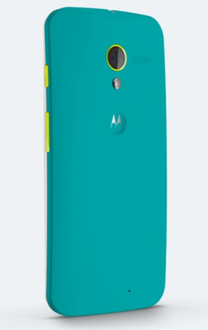 Google Moto X customized in turquoise