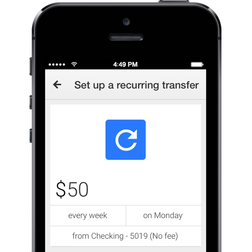 Google Wallet recurring transfer