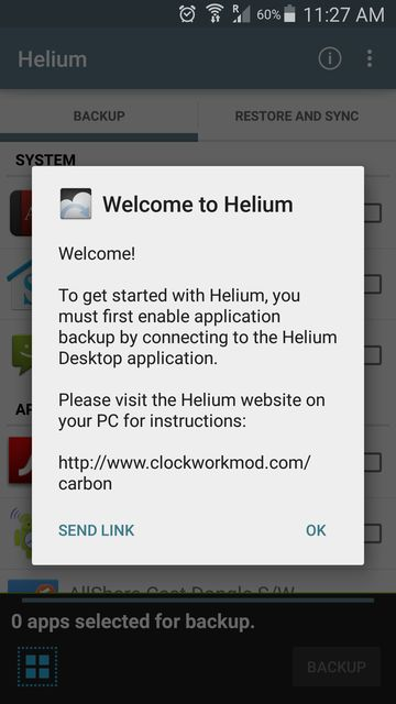 helium app sync and backup pc