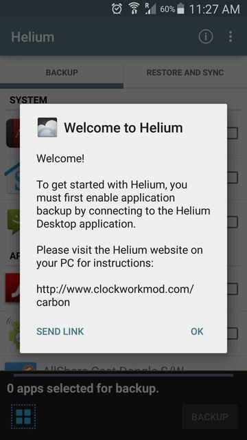 Helium app